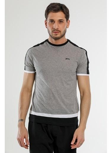 Slazenger Slazenger MASS Erkek T-Shirt Sarı Gri